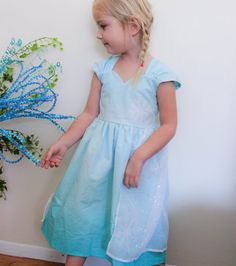 Disney Frozen Elsa Inspired Practical Princess Dress by greensies