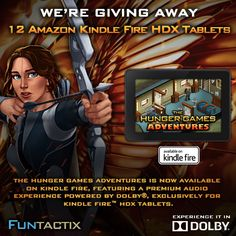 The Hunger Games Adventures is now available on Amazon Kindle Fire! To celebrate, we're giving away 1 Amazon Kindle HDX every day, for 12 days! Click on the image to enter to win!