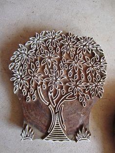 Mango Tree Fine Block Print Hand Carved