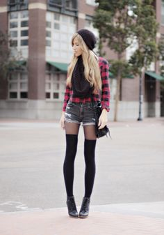 so cute! i need some black thigh highs really badly!