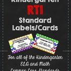 Here is a super FREEBIE!   I have created mini-cards (all of the kindergarten CCSS learning standards on them) for you to print on label sheets or ...