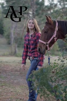 Rustic  Girl with her horse Photography