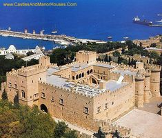 Palace of the Grand Master of the Knights of Rhodes (ie the Knights Hospitaller) on the island of Rhodes in Greece..... http://www.castlesandmanorhouses.com/photos.htm ..... The Palace is one of the few examples of Gothic architecture in Greece. It was previously a citadel of the Knights Hospitaller and functioned as a palace, headquarters and fortress.