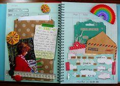 art journalsjournalssmash, books, craft, smash book layouts, smashahol, smashbook, smashjunk book, smash journal, scrapbook