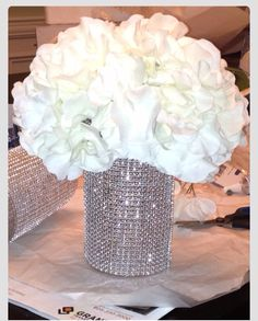 Bling wedding centerpieces by AngiesBridalCouture on Etsy