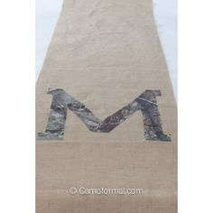 Camo and Burlap Aisle Runner - What this would be AWESOME 4 a camo wedding