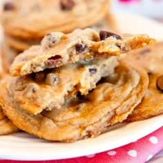 Snickers Bar Chocolate Chip Cookies by Averie
