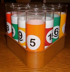 1970s Vintage Billiard / Pool Table Shot Glasses With Billiard Cue Rack on Etsy, $32.00