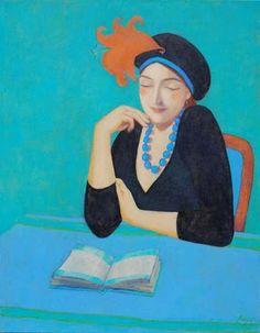 The glamor of reading / El glamour de la lectura (ilustración de Elisabeth Jonkers)