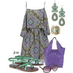 Lunch with the girls, created by jayneann1809 on Polyvore featuring the Stella & Dot - Capri Chandelier Earrings in Turquoise