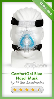 The ComfortGel Blue Nasal CPAP Mask pulls technology from several of the more recent Respironics masks. Together, these technologies enhance the already successful ComfortGel design. Click on the image for more information!