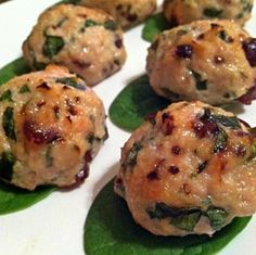 Ripped Recipes - Cran-Apple Turkey Meatballs - Sweet Meatballs for lunch or dinner!