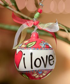 Love this 'I love You More' Ornament on #zulily! #zulilyfinds