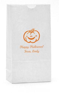 Smiling Pumpkin Paper Bags