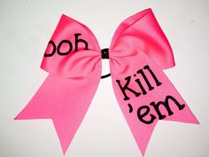ooh kill 'em cheer bow by Justcheerbows on Etsy, $8.00
