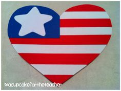 Memorial Day craft... heart the flag! :)