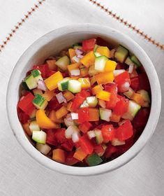 gazpacho salad...I adore gazpacho