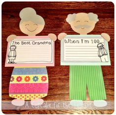 A Cupcake for the Teacher: Little 100 Year Olds {a Craftivity for Grandparent's Day or 100th Day}