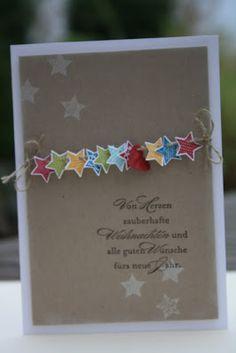 star garland christmas card