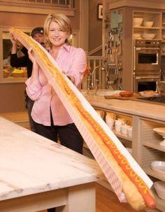 Martha Stewart with a Hot Dog