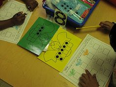Batty Ten Frames.  The students pick a bat card, color a bat on their sheet the same color as the bat card, and then record how many dots were on the bat's ten frame.