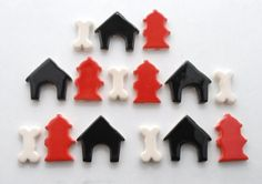 Ceramic mosaic tiles Doggy stuff  Handmade by mosaicmonkey on Etsy, $7.25