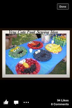 Fruit spread. Great serving idea! #kids #food