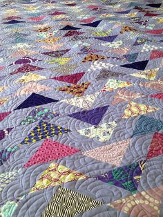 Purple Flying Geese Quilt | Flickr - Photo Sharing!