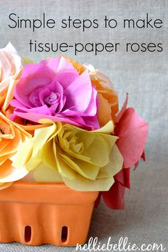 Simple Steps to Make Tissue Paper Flowers