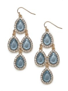 fashion, accessori, chandeliers, chandeli drop, blue earrings wedding, something blue, jewelri, iri chandeli, dusti blue
