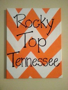 11x14 Rocky Top Tennessee Canvas Painting by Shop2415 on Etsy, $17.00