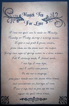 Magic Tea for Love (spell) part 2
