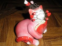 WHIMSICLAY COLLECTIBLE CAT FIGURINE AMY LACOMBE ADORA #86242 I LOVE YOU 2005 | eBay