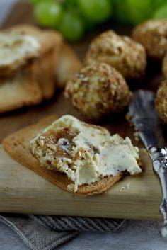 Gorgonzola & Candied Walnut truffles. #recipe #cheese #canape