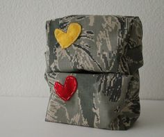 makeup / toiletry bag -- US Air Force - ABU Tiger Stripe Digital. $20.00, via Etsy.