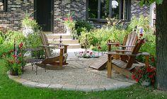 front yard patio idea - Adirondack chairs
