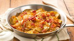 Skillet+Potatoes+with+Bacon+&+Cheddar