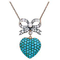 1890s Heart Pendant Necklace