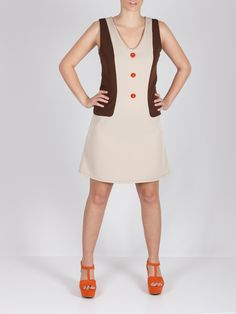 Vestido chalego beige #dress