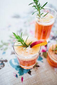 Peach & Rosemary Summer Fizz
