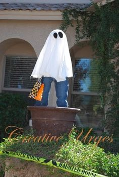 Halloween kid ghosts for the front yard!