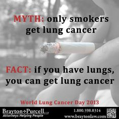 Smokers are not the only ones who get lung cancer!