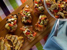 Marinated Antipasti Bruschetta from CookingChannelTV.com