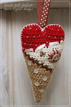 ~ Scrappy Crochet Heart ~
