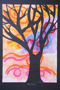 Tree Silhouettes from Splish Splash Splatter