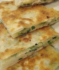 Chinese green onion flatbread (or scallion pancake)