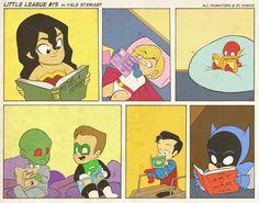 kid books, heroes, reading wonders, dc comics, yale stewart, batman, martian manhunter, justice league, superhero
