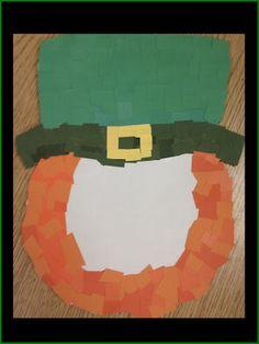 mosaic leprechaun, leprechaun craft