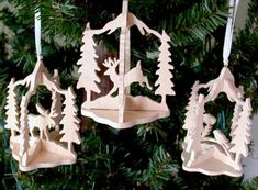 Scroll Saw Wildlife Patterns Free | SLD123 - 12 Slotted Wildlife Ornaments