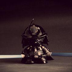 Darth Vader Samurai Custom Vinyl Toy